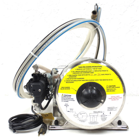 Shurflo 2 Gallon Water Booster Tank 804-023 and Pump  8025-933-399, Soda, Water