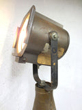 "Vtg 1950 Military Army Brass Shell MK2 Tank, 37"" Floor Desk Lamp 500W Spotlight"