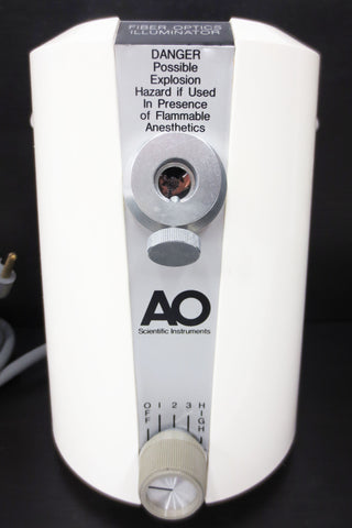 Fiber Optics Illuminator by AO Scientific Instruments, Model 1180, 120V 1.5 AMPS