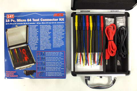 New 18 Piece Micro 64 Test Connector Kit 147 by Electronic Specialties, GM Auto