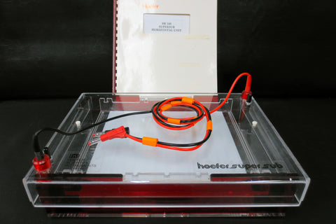 Hoefer HE 100 SuperSub Submarine Electrophoresis Chamber with Gel Tray & Manual