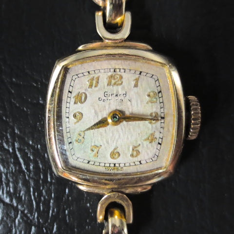 Vintage Girard Perregaux 10K Gold Plated Women's Watch, 17 Jewels, Fancy Lugs