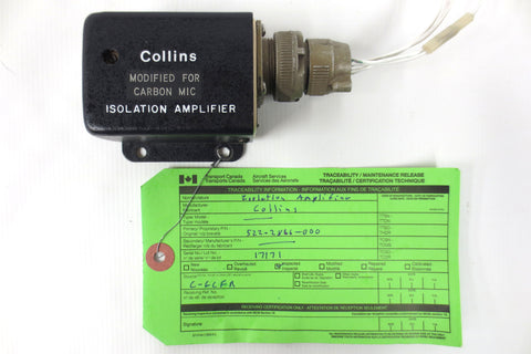 Collins Avionics Insolation Amplifier P/N 522-2866-000, Type 356C-4, Serial 17171, Inspected, Ready to Fly