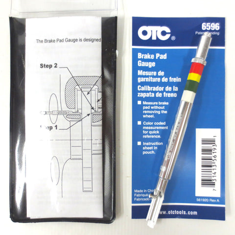 New Brake Pad Gauge Caliper by OTC Tools Model 6596, Determines Remaining Life
