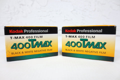 Lot of 2 New Unopened Kodak T-MAX 400 TMY 135-36 Negative Films 35mm Black & White