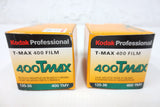 Lot of 2 New Old Stock NOS Kodak T-MAX 400 TMY 135-36 Negative Films 35mm Black & White