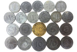 21 WWII Nazi Germany Coin Collection 1938 to 1944, 1, 5 and 10 Reichspfennig