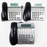 3 NEC DTH-16D-1 Office Speaker Phones 16 Lines, LCD, Adjustable Stand, Manual