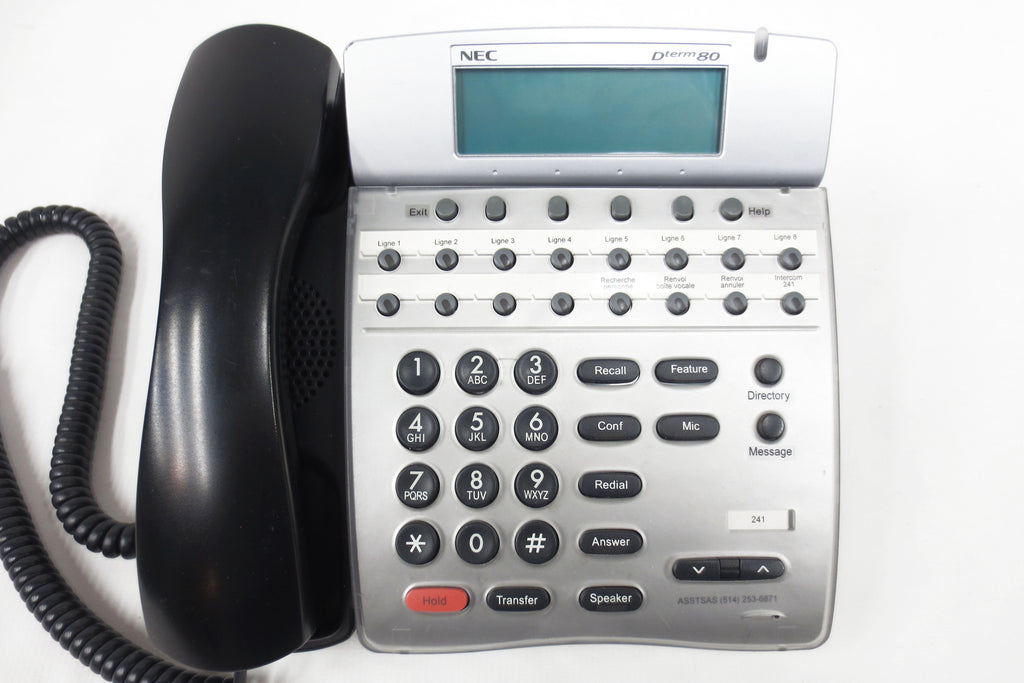 NEC Dterm 80 DTH-16D-2 Office Speaker Phone 16 Lines, LCD, Adjustable Stand