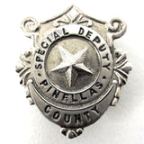 Vintage Pin Badge Special Deputy Pinellas County Florida U.S.A. Police Sheriff