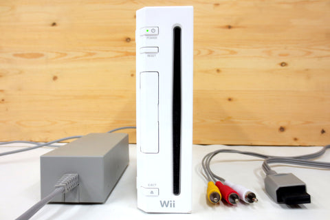Nintendo Wii Games Console RVL-001, Gamecube Compatible, with AC Adapter and TV Cable