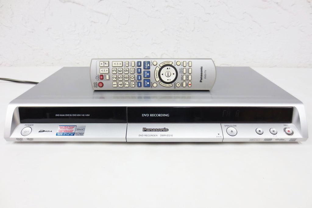 Panasonic DVD Video Recorder Diga DMR-ES16, 4.7GB HDD 8 Hours Recording, TV Tuner, Remote