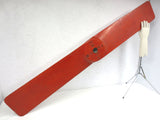 "Antique WWI Airplane Wood Propeller 5' 8"" Tall, Original Red, ROTATES ON WALL"