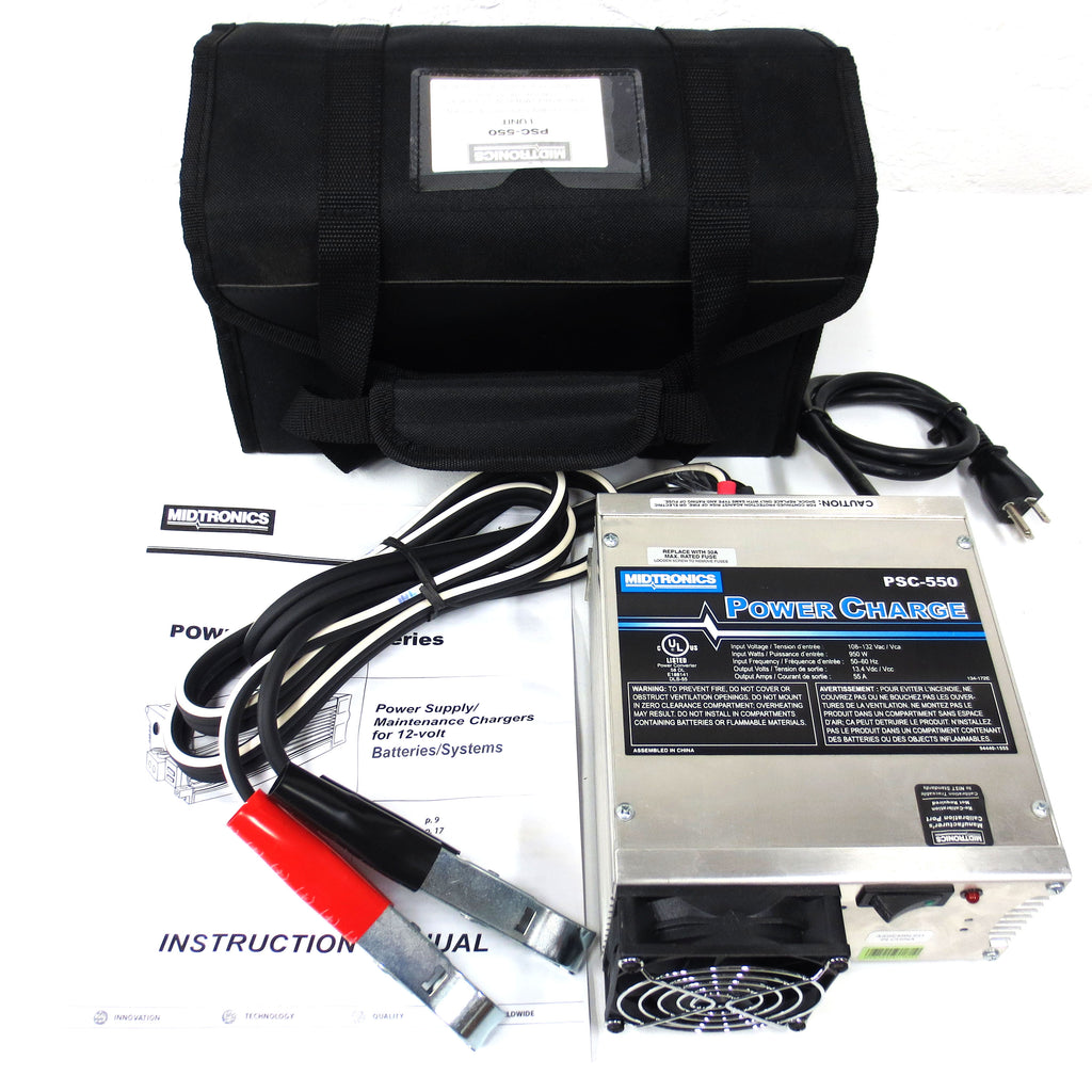 New Midtronics 950W Reflash Power Supply Charger PSC-550 for 12-Volt Batteries