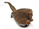 Vintage Estate Tobacco Pipe Topless Long Hair Woman by Briar, Custom Carved