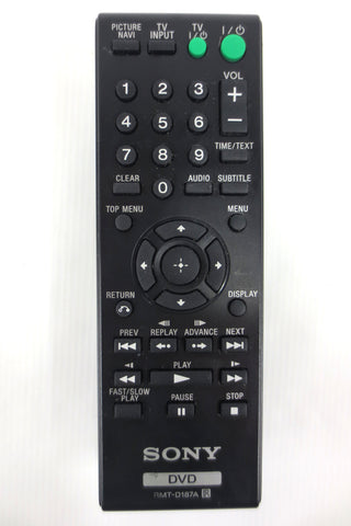 Original Sony DVD Remote Control Model RMT-D187A