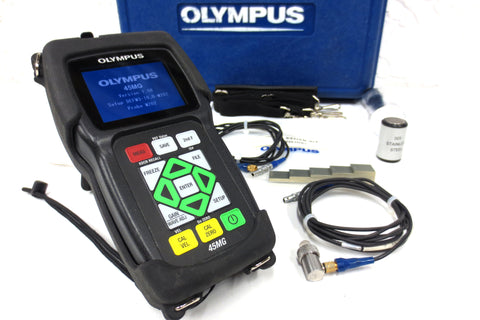 Olympus Panametrics 45MG Thickness Gage Ultrasonic Flaw Tester with Transducer