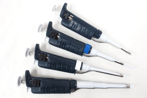 Gilson Pipetman Set of 4 Pipette Pipettor Pipet Variable P2 P20 P200 P1000 µL