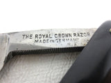 "Vintage Royal Crown Straight Razor 10"" Germany Extra Hollow Ground, Long Handle"