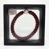 Natural Garnet 216 Beads Bracelet with Baroque Pearl Set in Sterling Silver, 665
