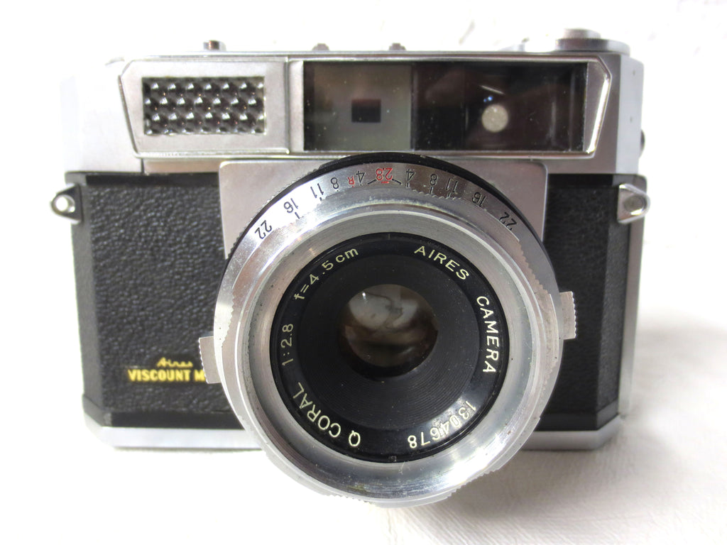 Rare Aires 35mm Camera Viscount Model with Aires Q Coral 2.8, 4.5cm Lens
