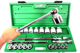 "SK Pro Tools 25 Pc Socket Set #4725, 3/4"" Drive 12 Point 7/8"" to 2 1/4"" STD SAE"