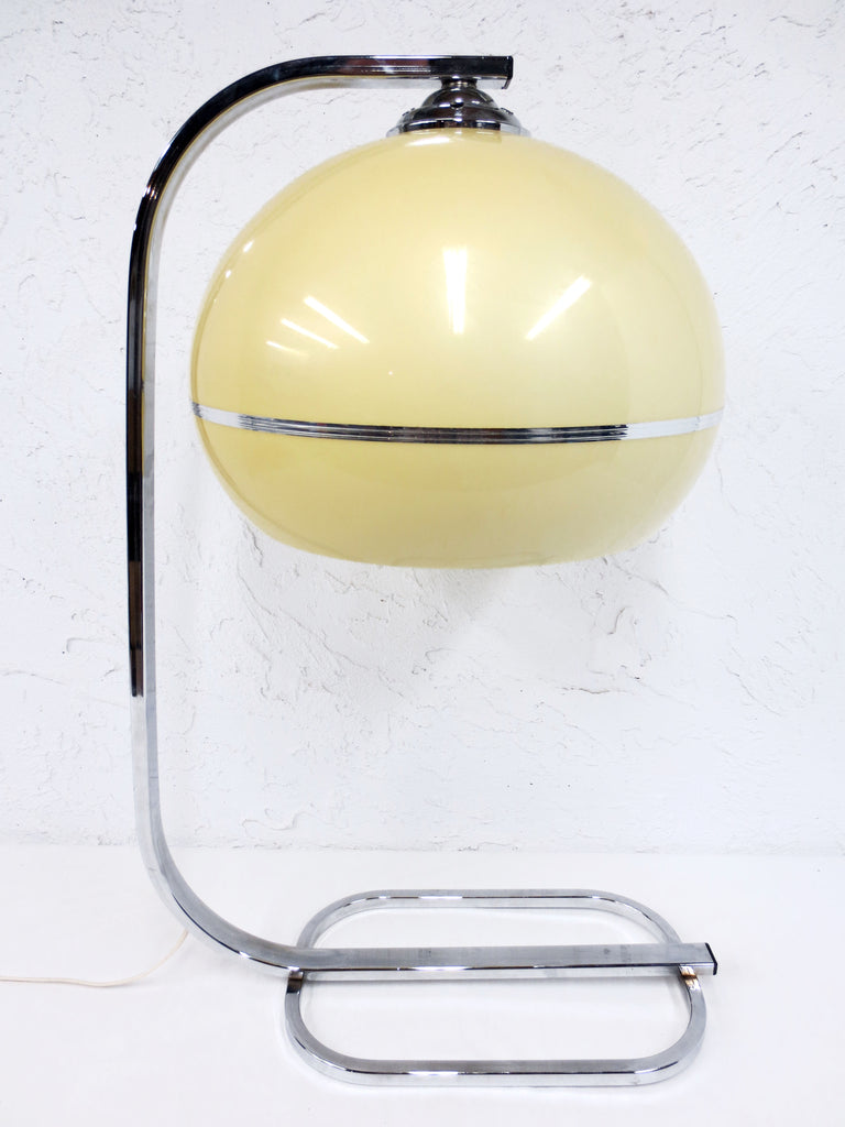 Vintage Mid Century Atomic Mushroom Table Lamp, Space Age Guzzini Desk Lamp