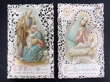 Antique Holy Cards Lace Canivet by Bouasse-Lebel Paris, Holy Family