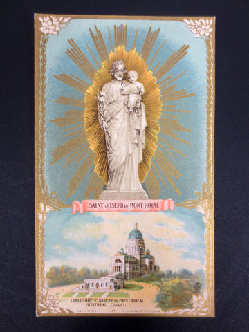 Antique 1912 Holy Card Canivet, Oratoire St- Joseph du Mont-Royal, Montreal