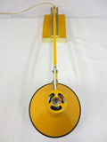 Vintage Mid Century Articulating Swing Arm Drafting Desk Lamp by Luxo, Yellow