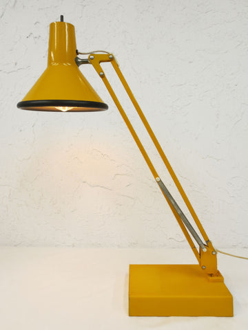Ideal Vintage Mid Century Articulating Swing Arm Drafting Desk Lamp by  CW94