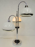 Vintage Mid Century Atomic UFOs Table Lamp, Space Age Guzzini Desk Lamp