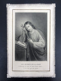 Antique Holy Card Lace Canivet by Letaille Boumard Paris, Secrets of the Cross