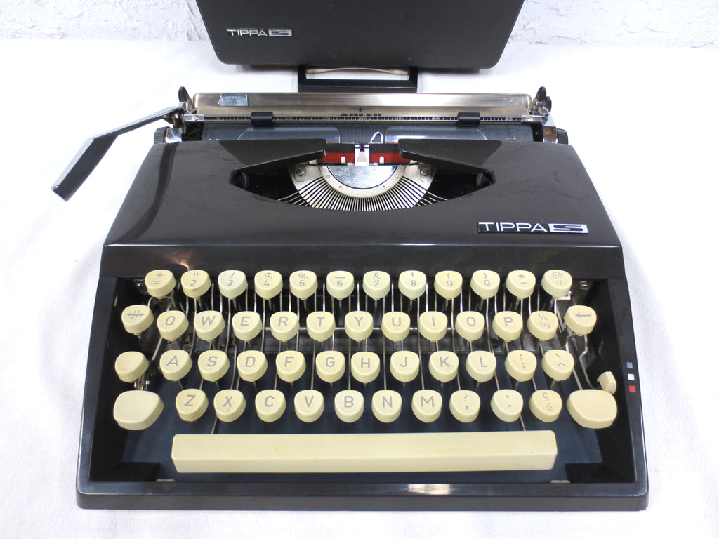 Vintage 1960s Adler Grundig Tippas S Portable Typewriter with Case, West Germany