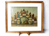 Antique Religious Chromolithograph by Seiber, Steps in the Life of a Woman 22X19