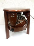 Vintage 1950s Floor Fan Hassock Stool, Rare Superior Electric, Vornado Style