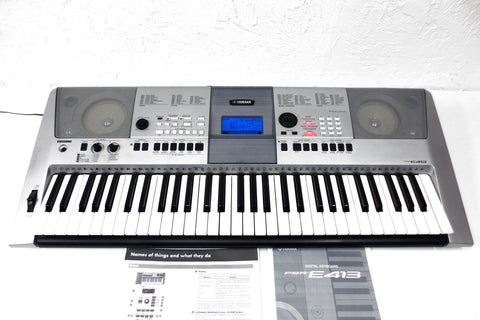 Yamaha Digital Keyboard PSR-E413, 61 Notes, 509 Sounds, 165 Styles with Manual