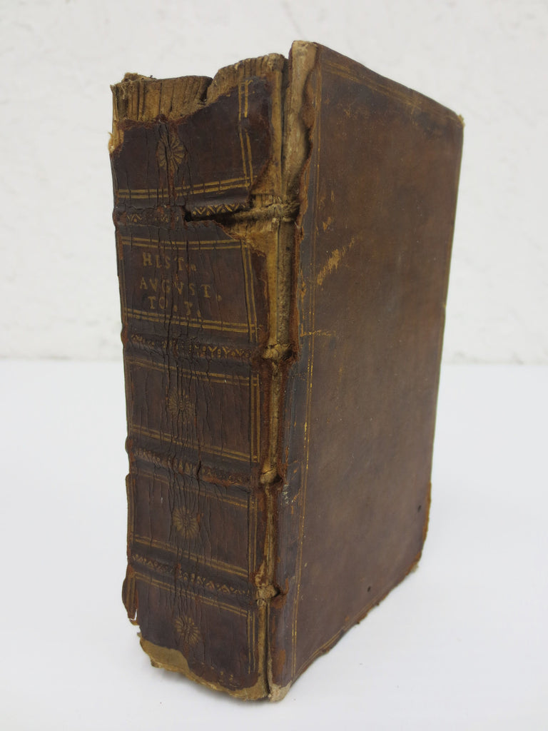 Antique 1631 Book on Roman Emperors in Latin, Historia Augusta by Claudio Salmas