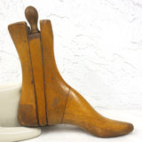 Antique Primitive Women Wood Shoe Form, Boot and Socks Wood Mold, Shoemaker, 10""