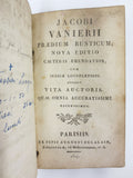 Antique 1817 Book by Jacobi Vanierii, Latin & French, College Sainte Barbe Paris