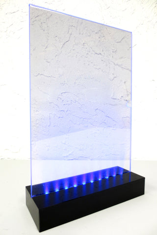 Hotel Restaurant Cafe LED Light Self Standing Menu Cover Holder, Wine Drink List