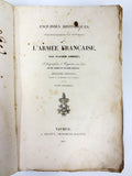 Antique 1837 French Army Dragons Corps Book, Captain Ambert, Army Lithographies