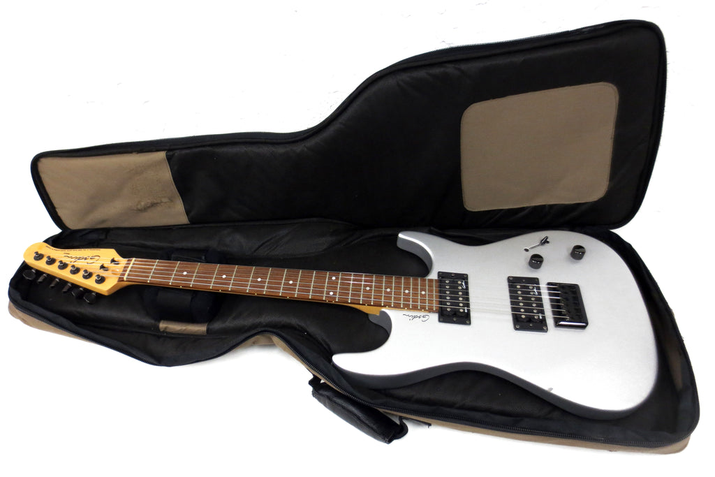 Godin Detour Electric Guitar with Gig Bag, Silver Graphite Body, Hand-Crafted, Serial 05195515