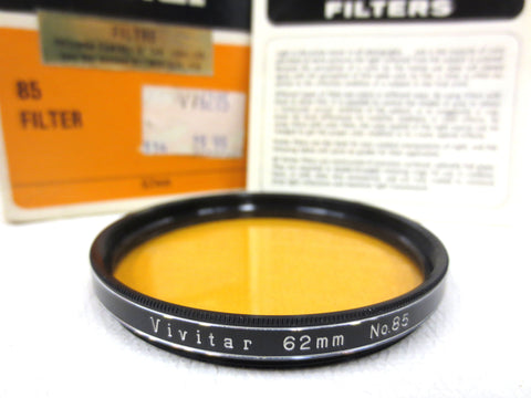 Vintage Vivitar 62mm Camera Filter No 85 Type A Perfect Glass, Instructions, Box