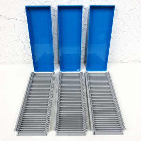 3 Lab Laboratory Substrate Glass Slide Boxes, Each Hold 36 Microscope Slides 3X1""