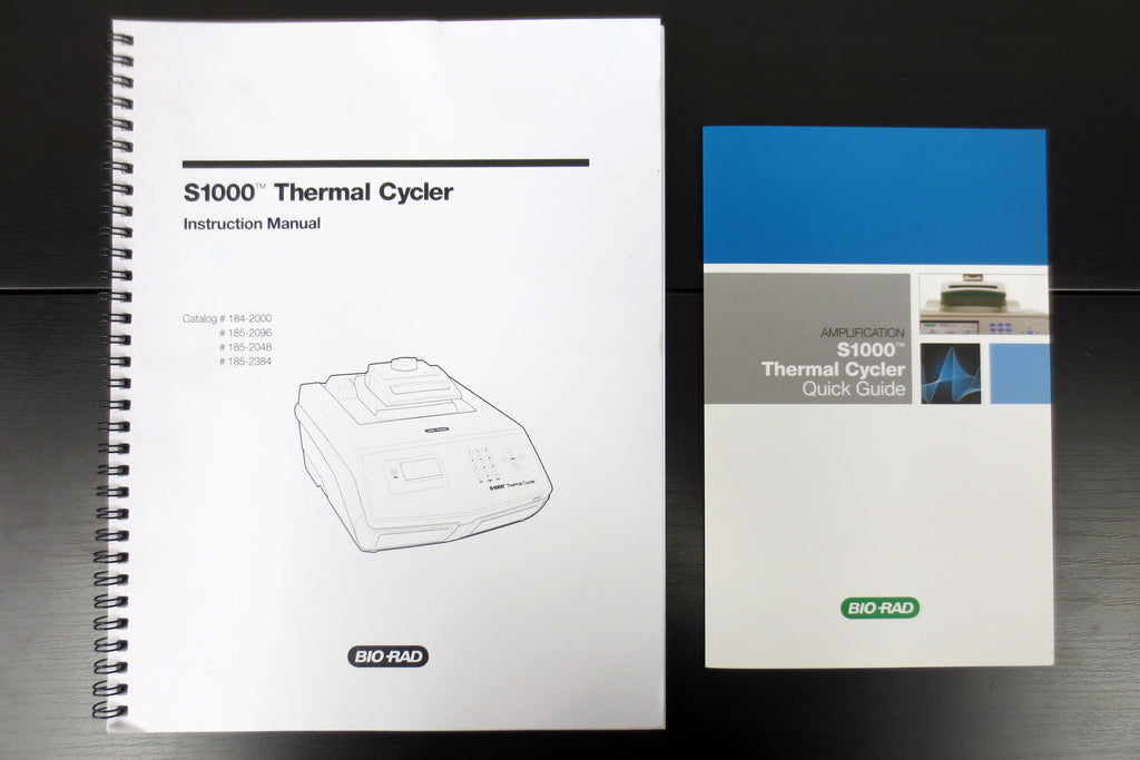 Bio-Rad S1000 Thermal Cycler Instruction Manual and Quick Guide, Lab Research
