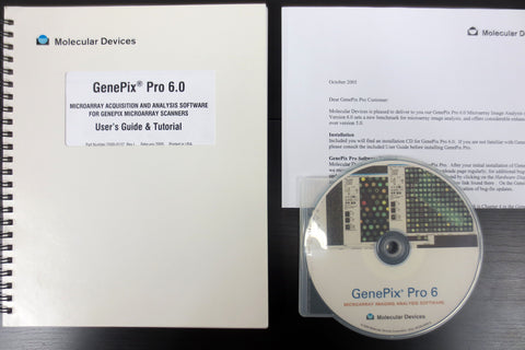 GenePix Pro 6 Microarray Imaging Analysis Software CD & Manual, Molecular Devices