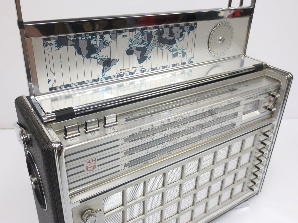 Philips Trans-World Deluxe Shortwave Radio, Portable Ham Radio Receiver,  L6X38T