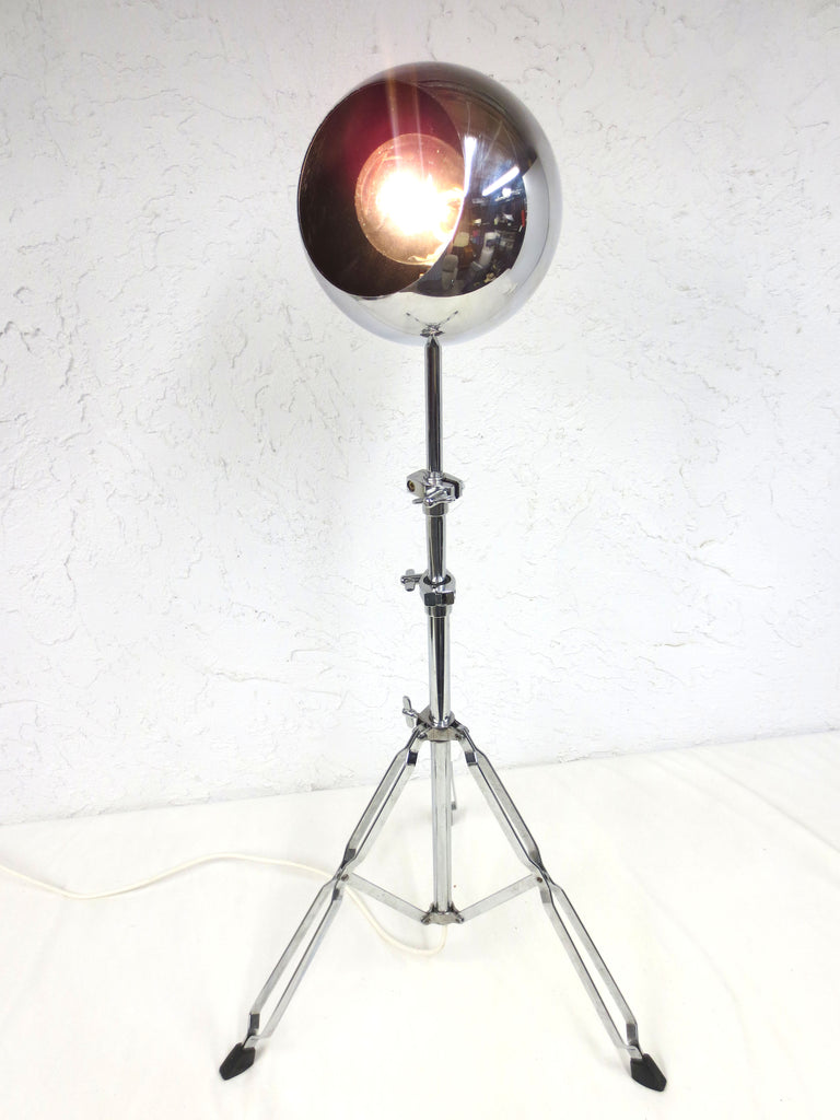 "Vintage Mid Century Chrome Ball Sputnik Floor Lamp 45"", Tripod, Swivels, 660W"