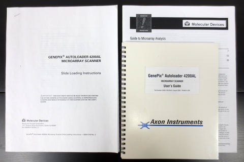GenePix Autoloader 4200AL Microarray Scanner Manual Instructions, Molecular Devices